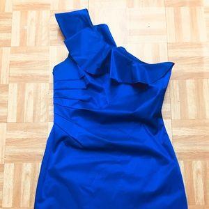 TRENDY ROYAL BLUE SHORT DRESS
